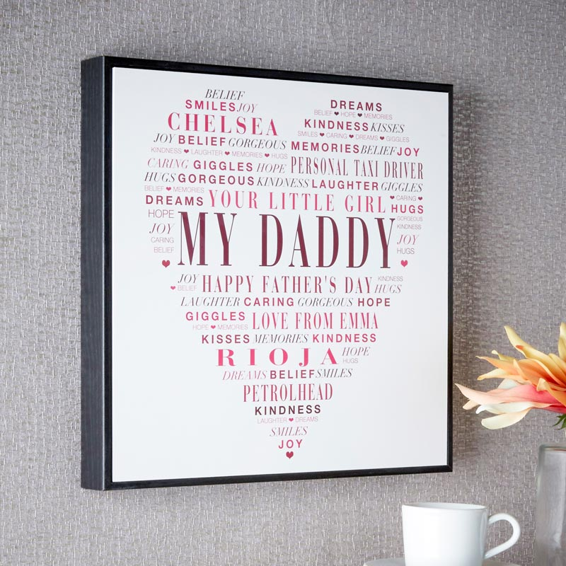 Personalized Word Art Box Frames