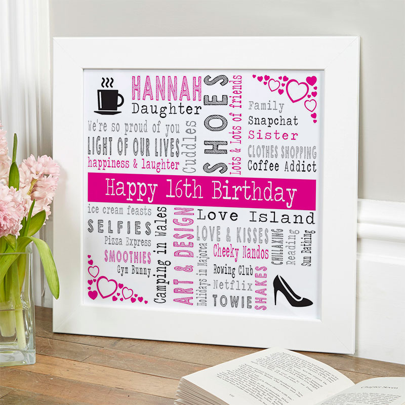 16th birthday unique present ideas for girls personalized square corners