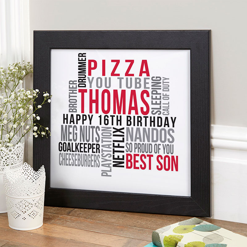 personalized 16th birthday gift for boys