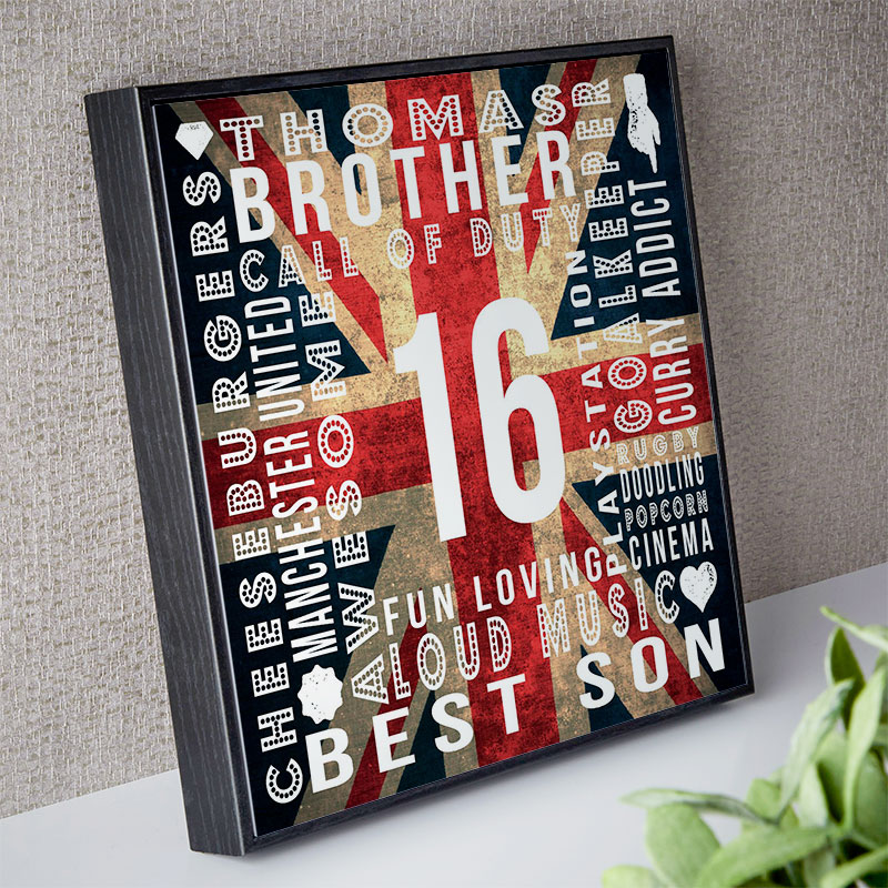 16th birthday gift for boys personalized landmark age word picture