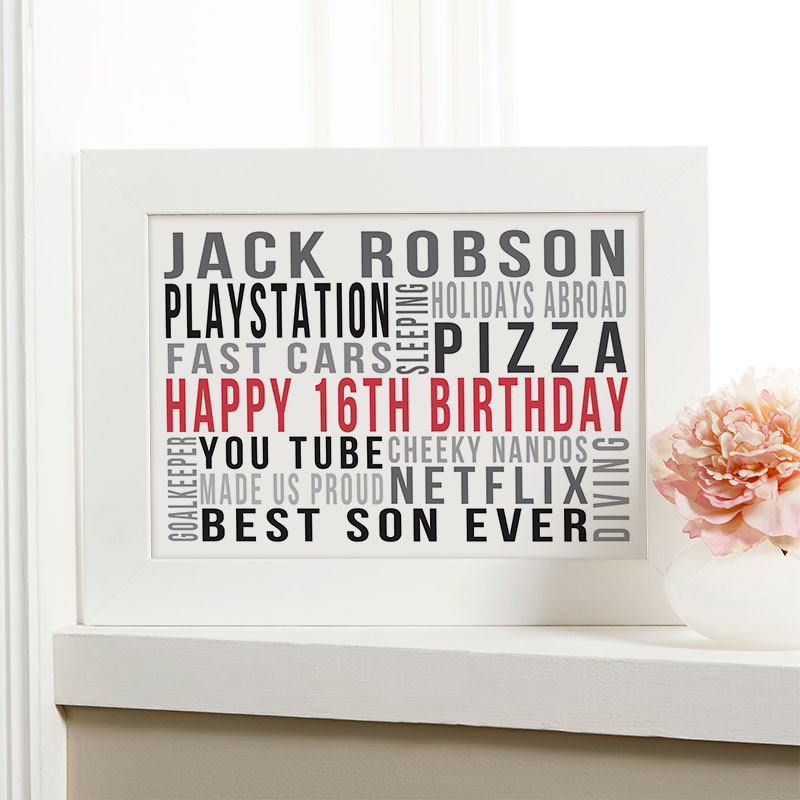 personalized word art print for birthdays