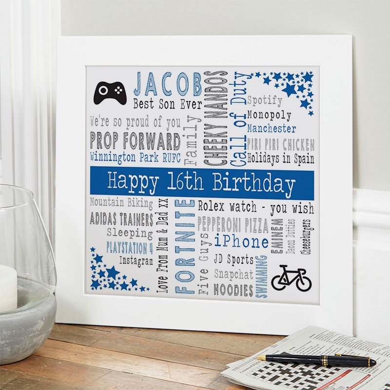 16th birthday gift ideas for boys personalized picture