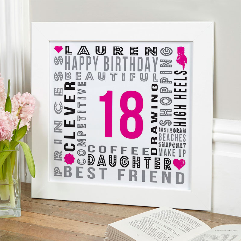 18th birthday bespoke gift for girls