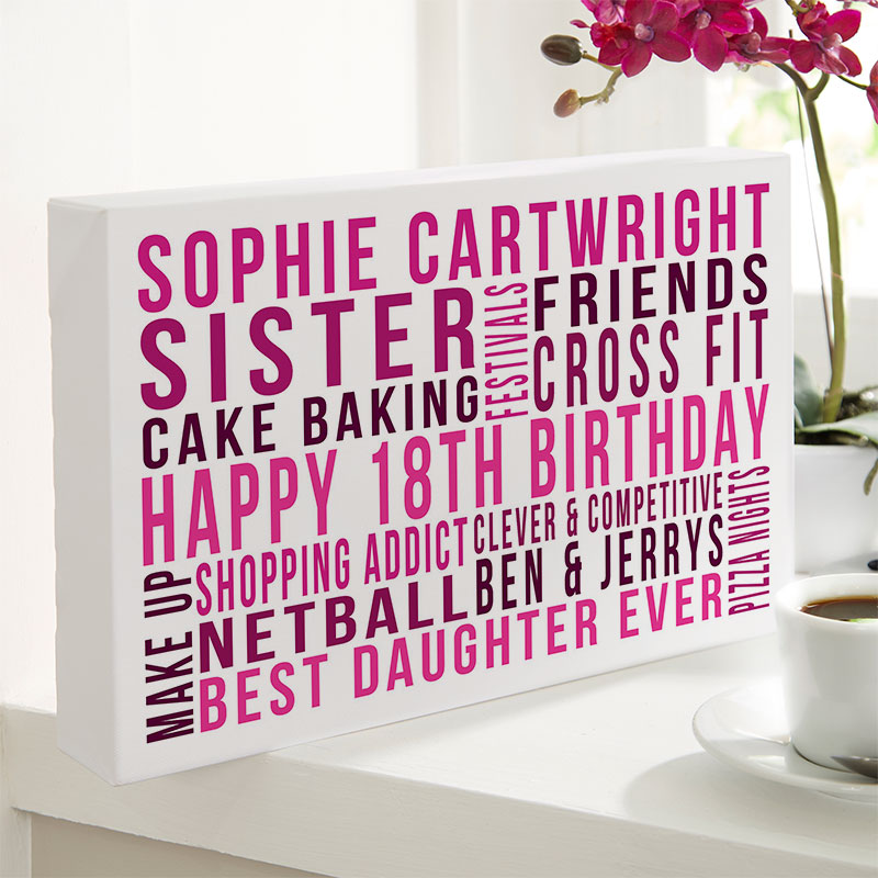 personalized 18th birthday gift for daughter