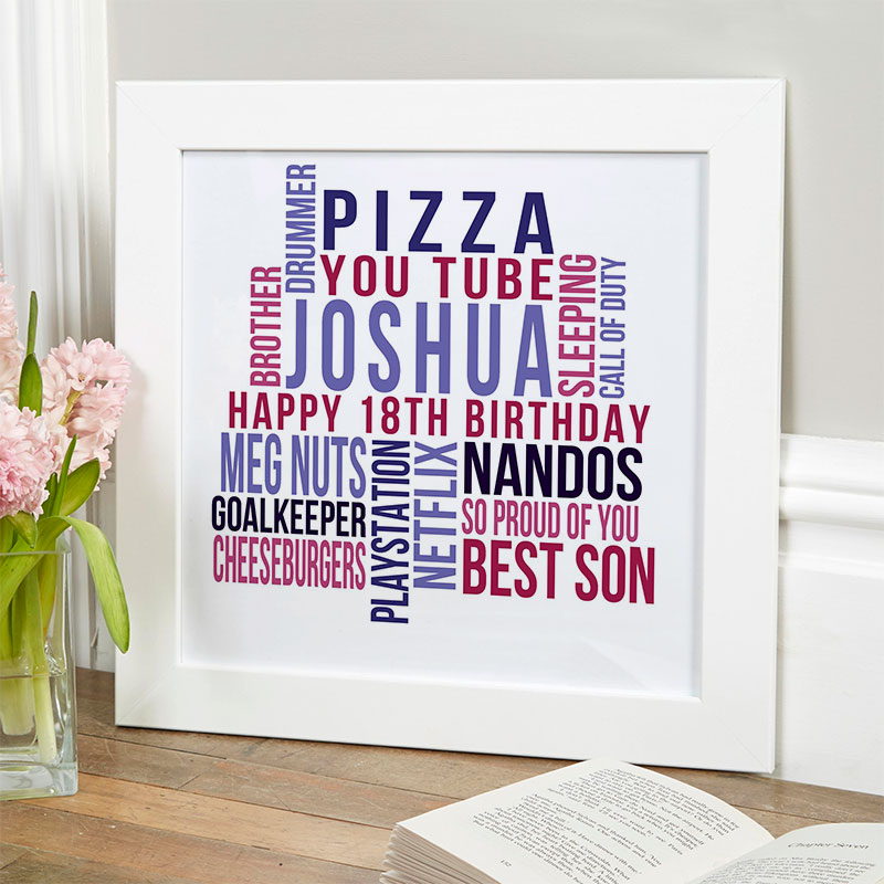 personalized present for boy 18th birthday memories