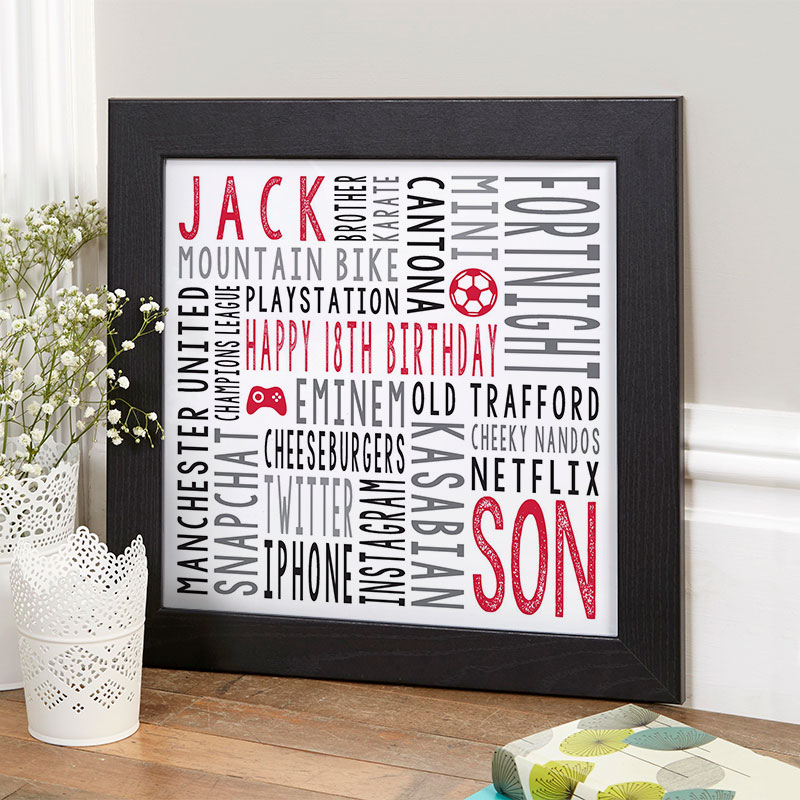 18th birthday gift for boys personalized