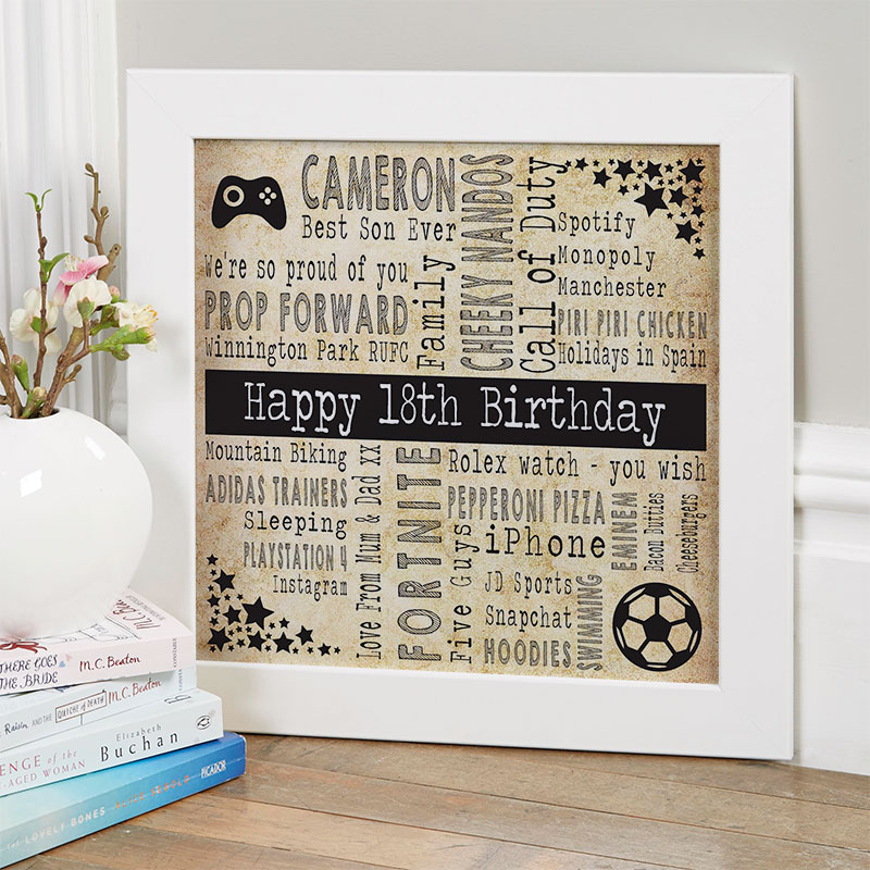 18th birthday gift ideas for boys personalized square corners