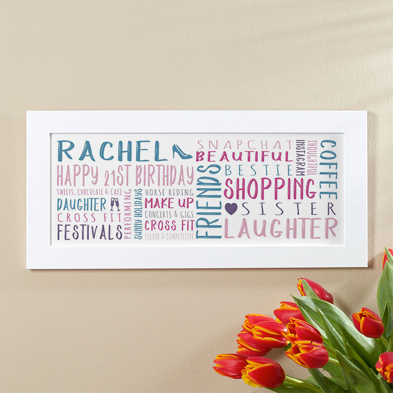 21st Birthday Gift Ideas For Her Of Unique Word Art