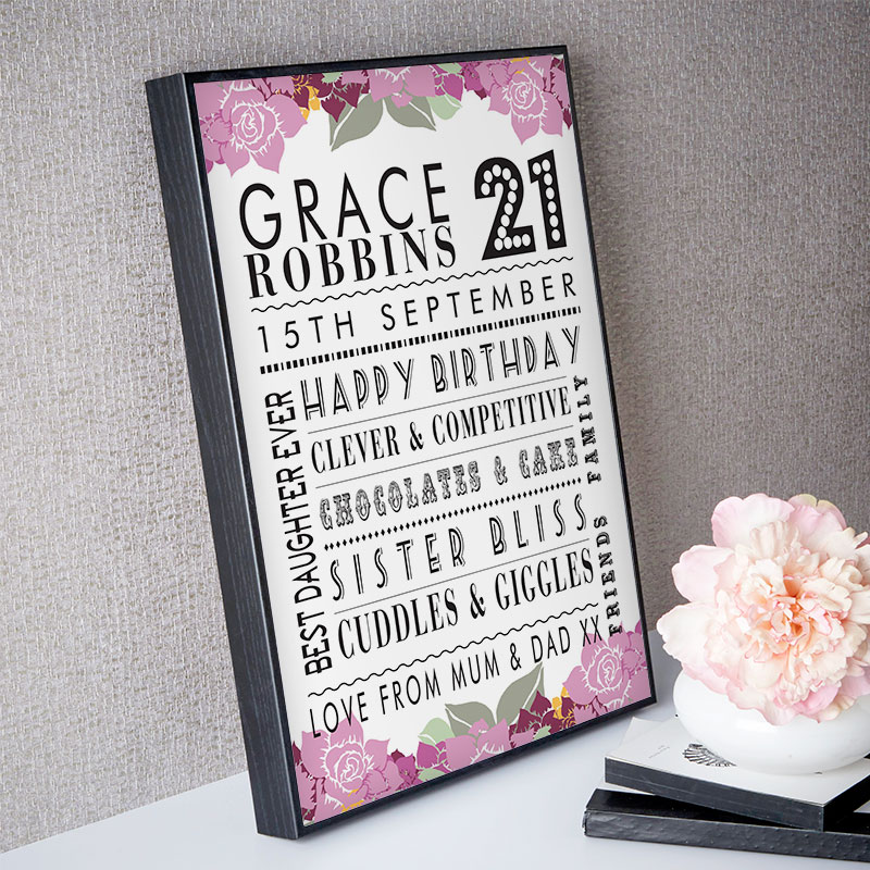 Personalized 21st Birthday Present Ideas Chatterbox Walls