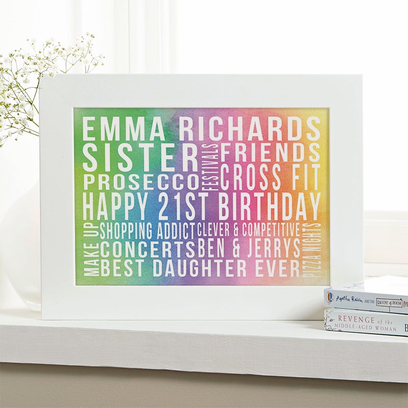 Personalized 21st Birthday Gifts With Words