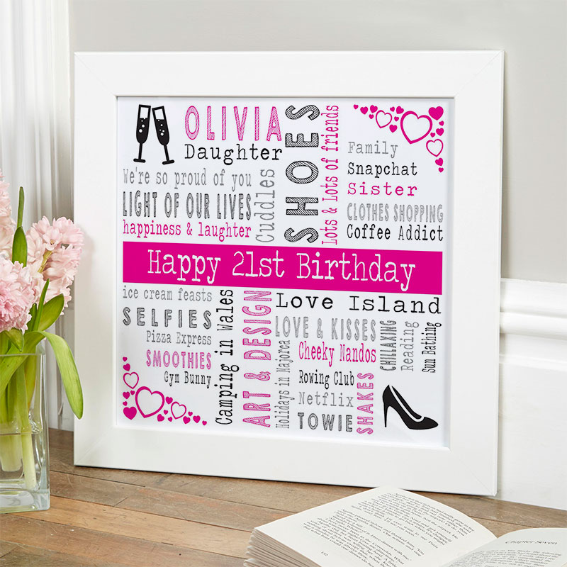 Personalized 21st Birthday Present For Her