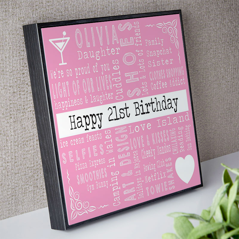 Personalized 21st Birthday Present Ideas For Her