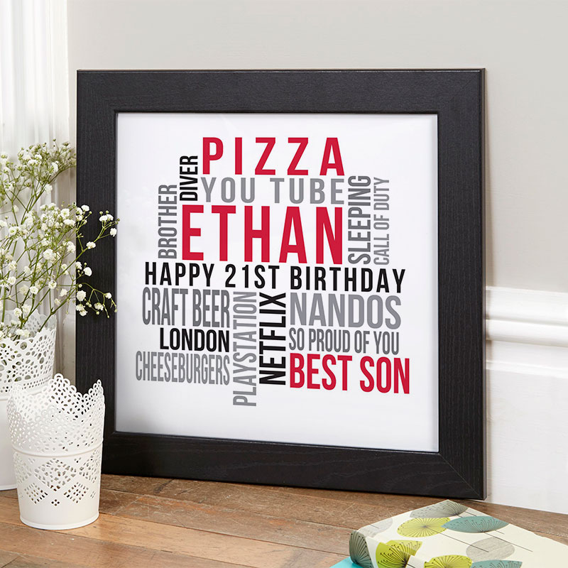 personalized present for boy 21st birthday memories
