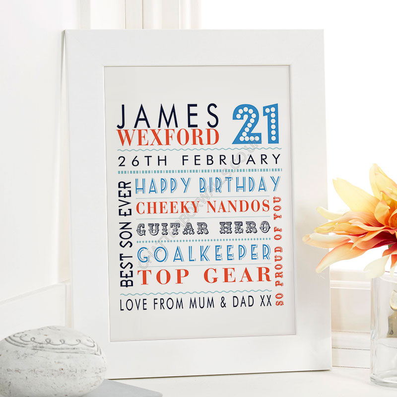21st birthday unique gift for him
