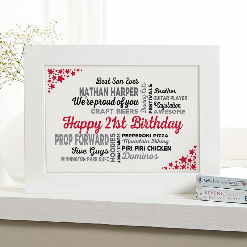 Personalized 21st Birthday Present For Him