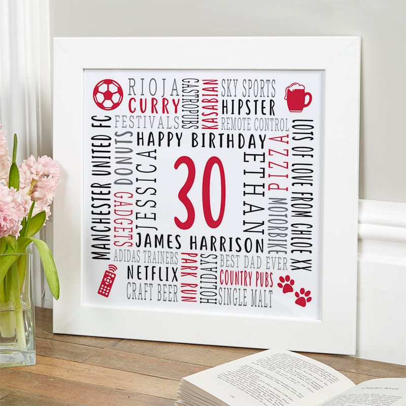 birthday gift for 30 year old man personalized picture
