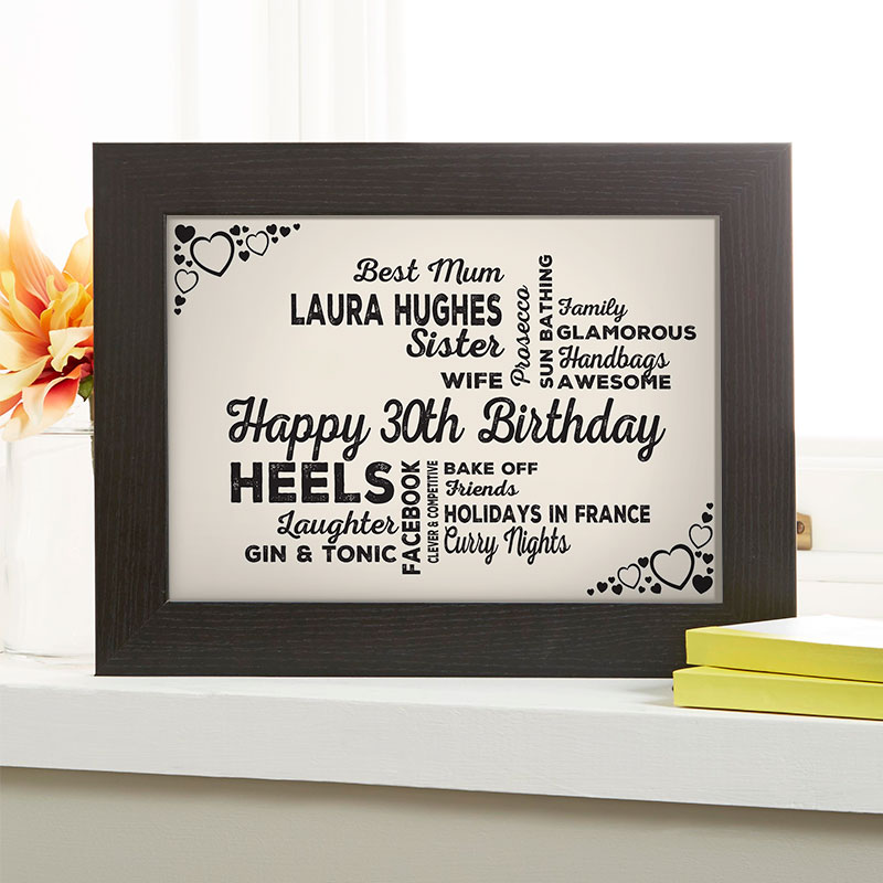 Personalized 30th Birthday Presents For Her