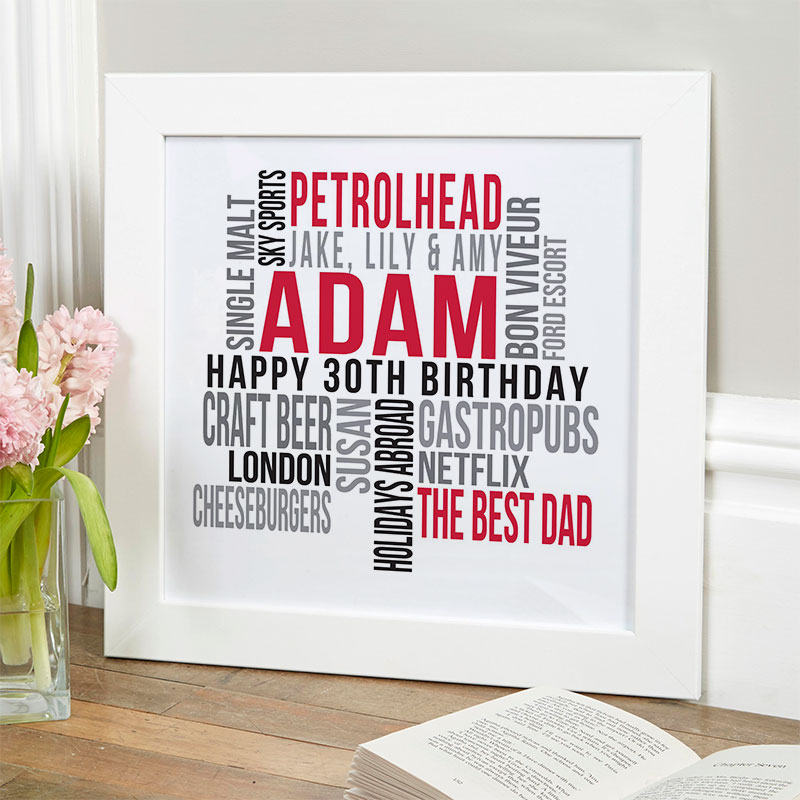 personalized present for husband 30th birthday memories