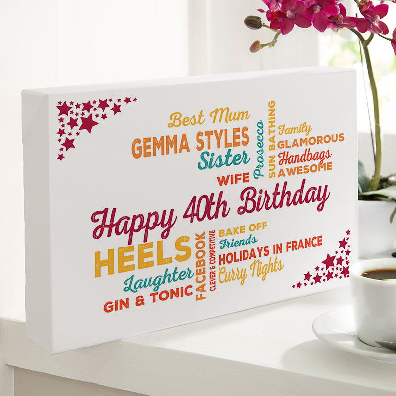Personalized 40th Birthday Present For Her