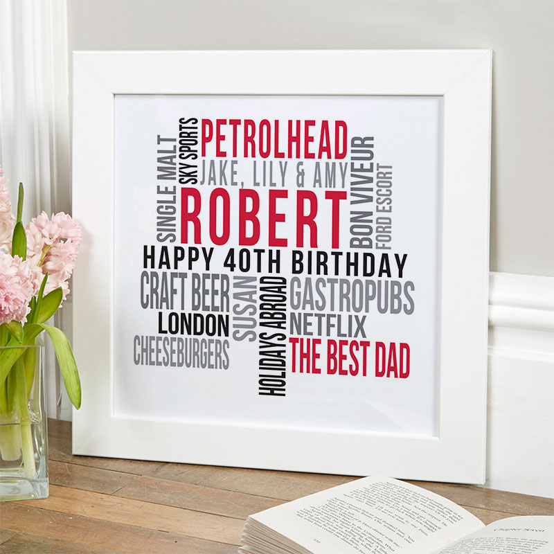 personalized present for husband 40th birthday memories