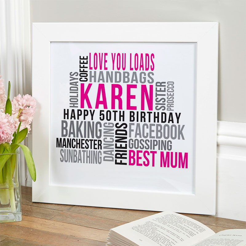 50th birthday presents for her Personalized 50th Birthday Gifts For Her | Chatterbox Walls 50th birthday presents for her