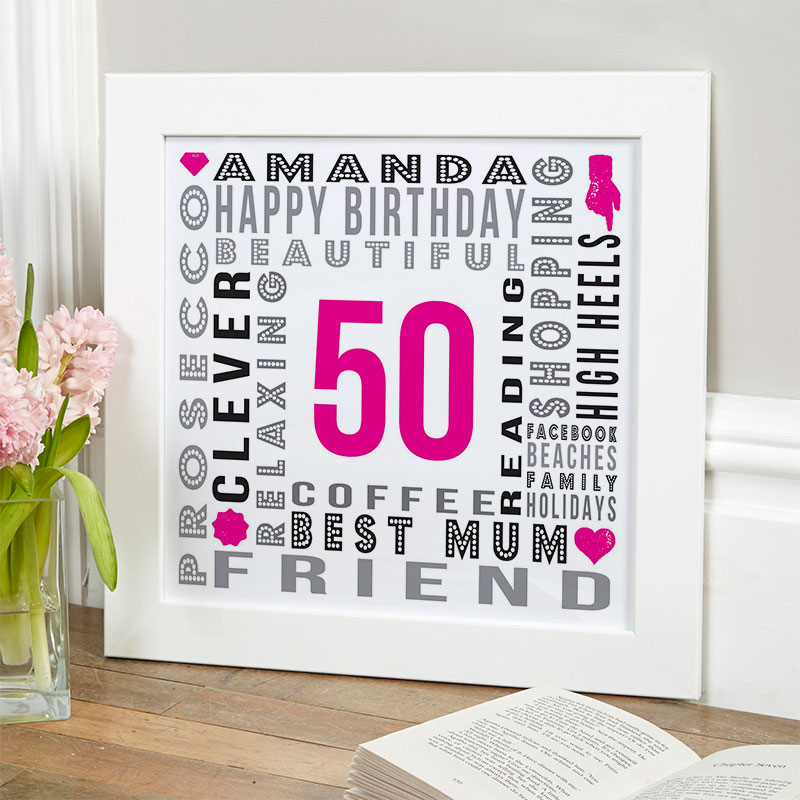 50th birthday bespoke gift for her