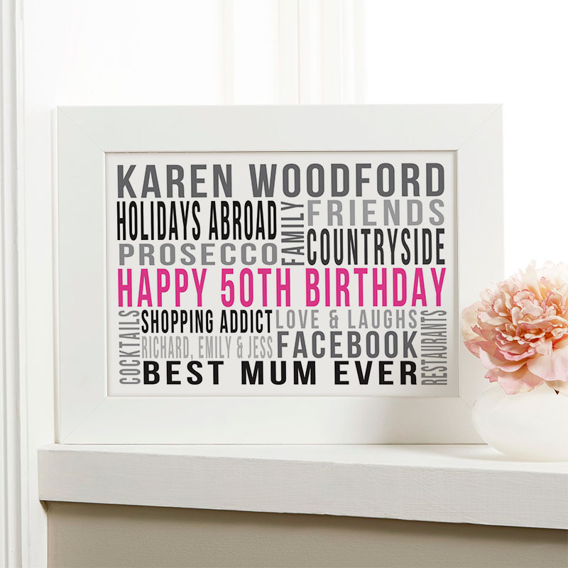 Personalized 50th Birthday Gift Ideas For Her