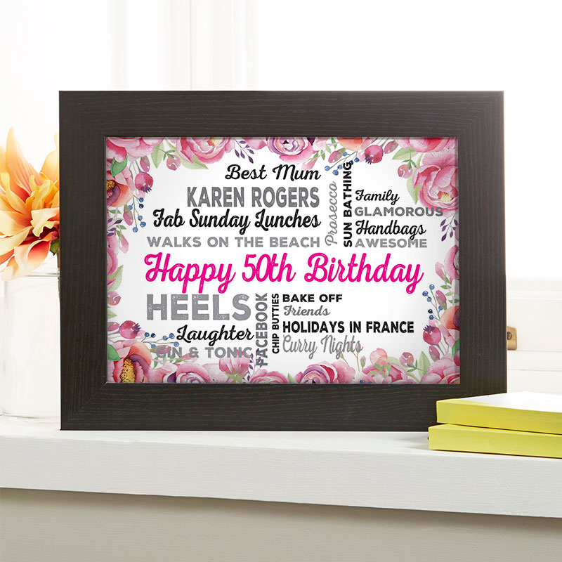 Personalized 50th Birthday Present For Her
