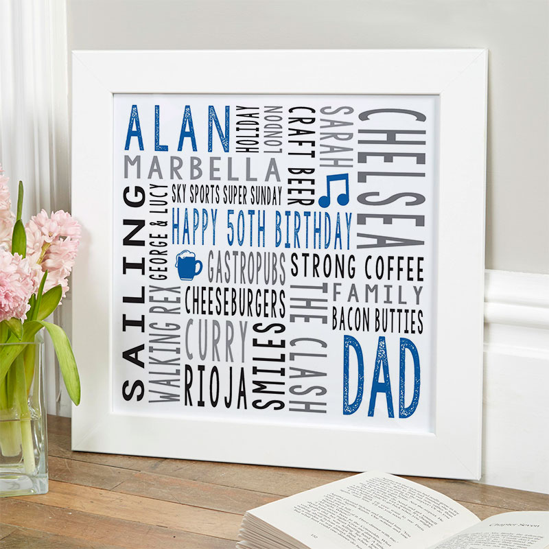 50th birthday gift for him personalized