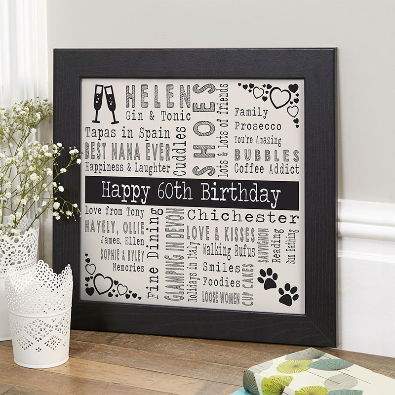 Personalized 60th Birthday Present For Her