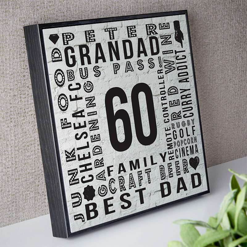 60th Birthday Gifts Present Ideas For Men Chatterbox Walls