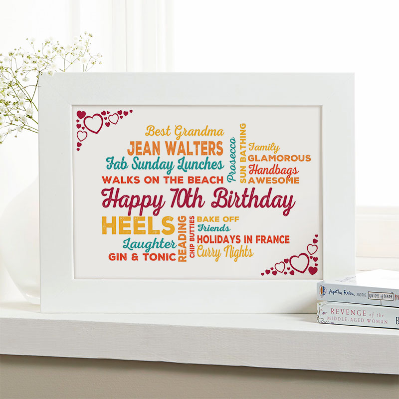 Personalized 70th Birthday Presents For Her