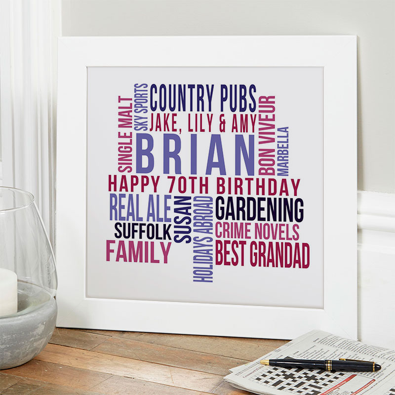 personalized present for husband 70th birthday memories