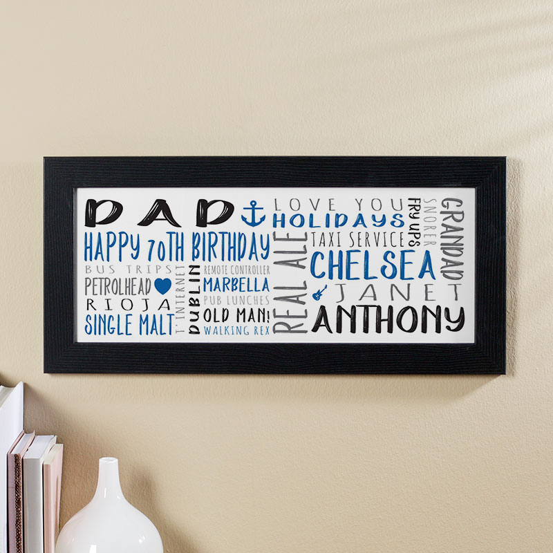 mens 70th birthday personalized gift