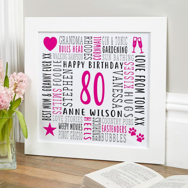 gift ideas for 80 year old woman personalized picture