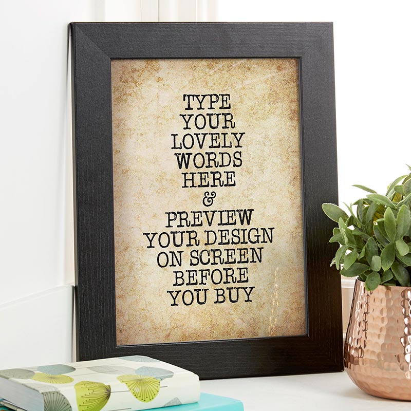 Custom Vintage Typewriter Style Quote Print