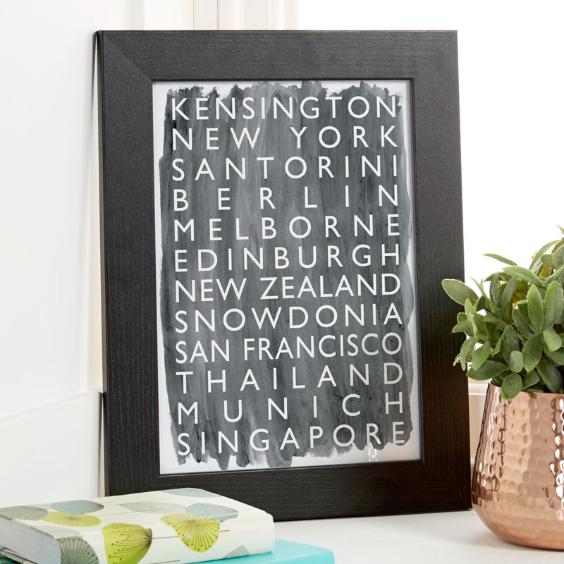 personalized framed art london bus blind