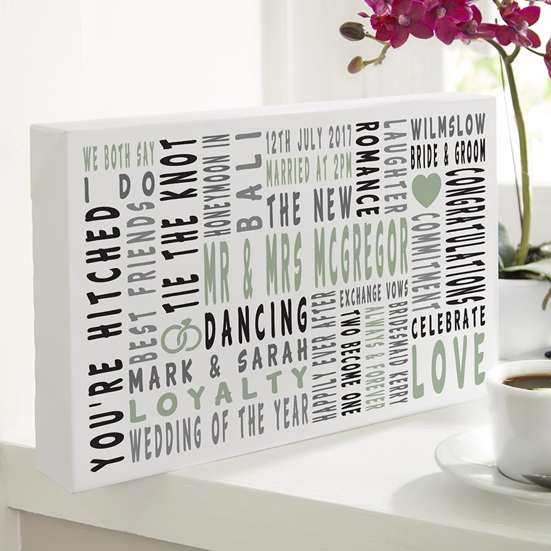 Personalized Wedding Gift Of Word Art