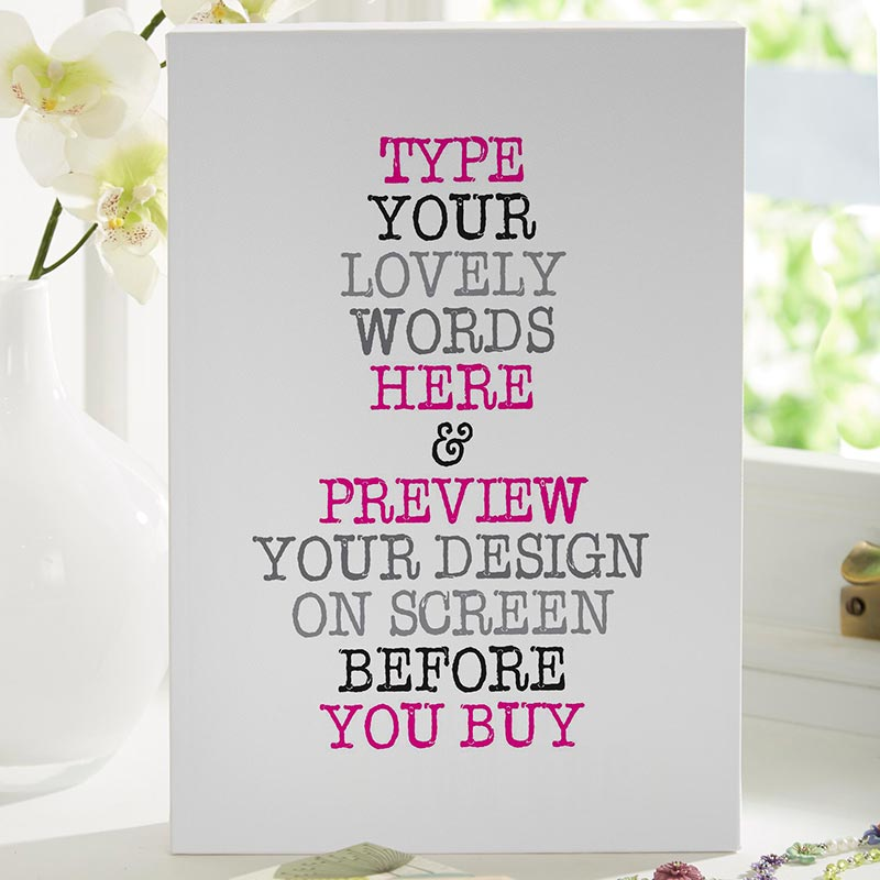 Custom Vintage Typewriter Style Quote Print