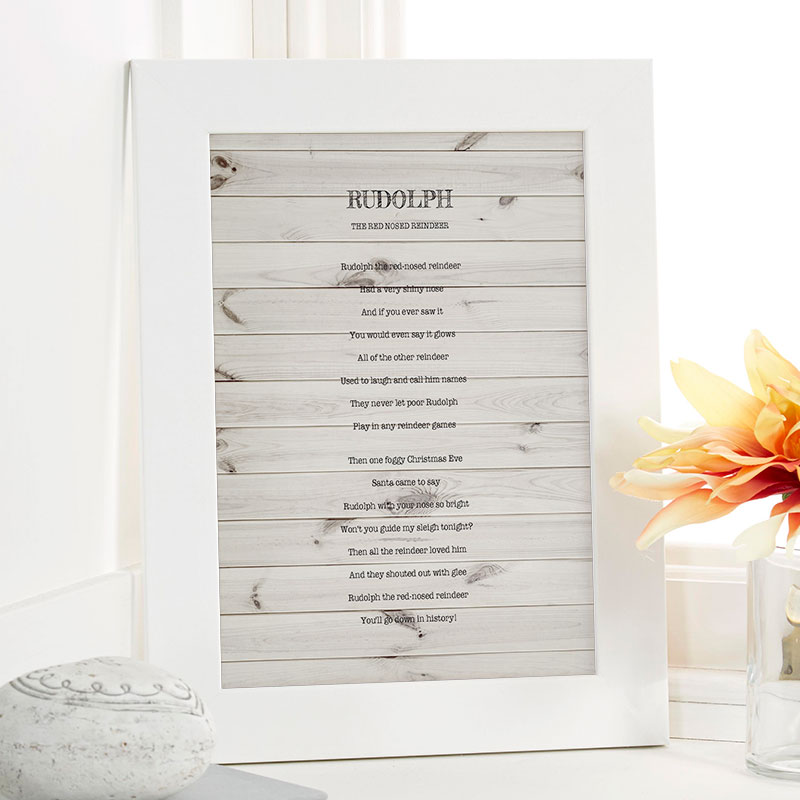 Personalized Christmas Gifts | Create Your Own Song Lyrics As Wall Art