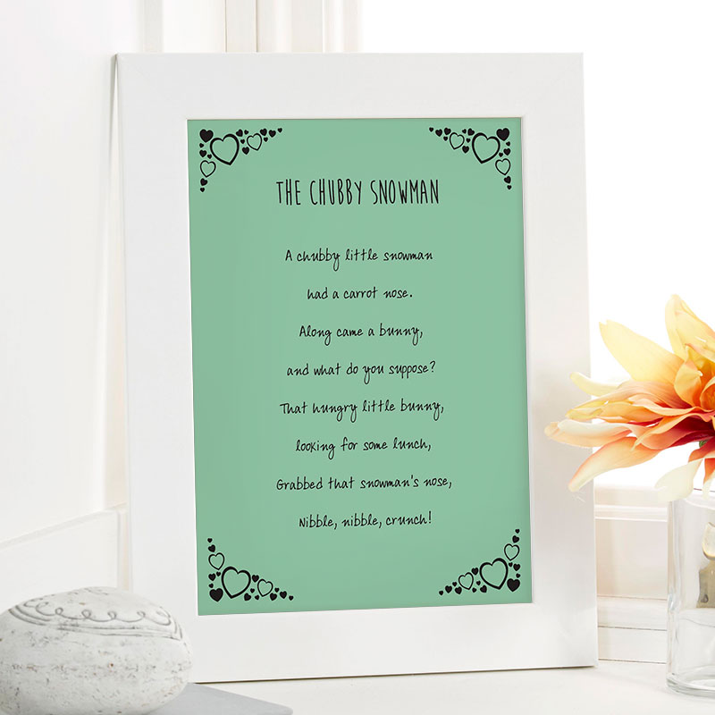 christmas gift ideas personalized poem