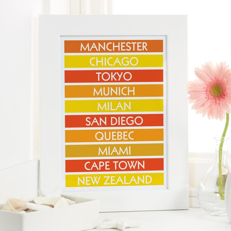 personalized destination print gift