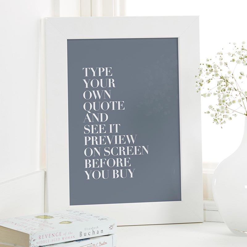 custom vogue font quote print