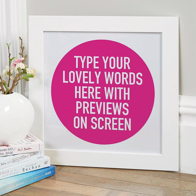 custom quote framed print