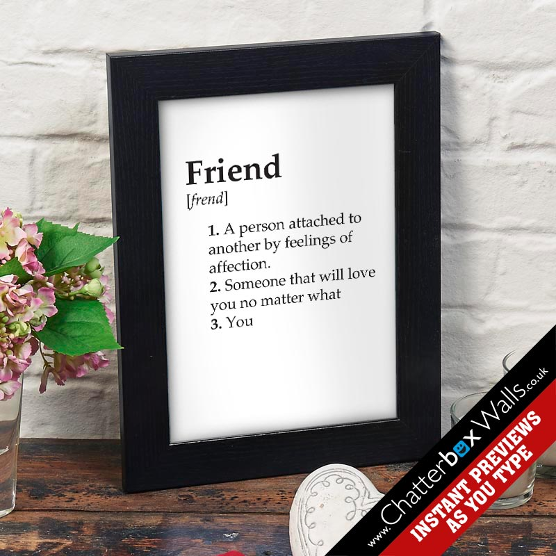custom dictionary definition print or canvas chatterbox walls