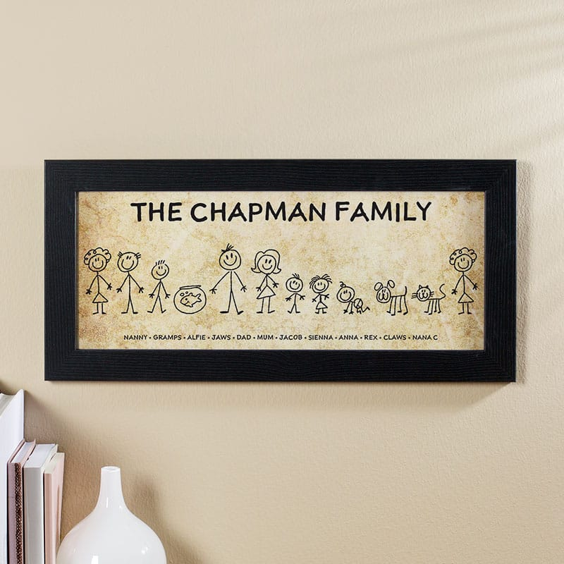 family characters wall picture custom