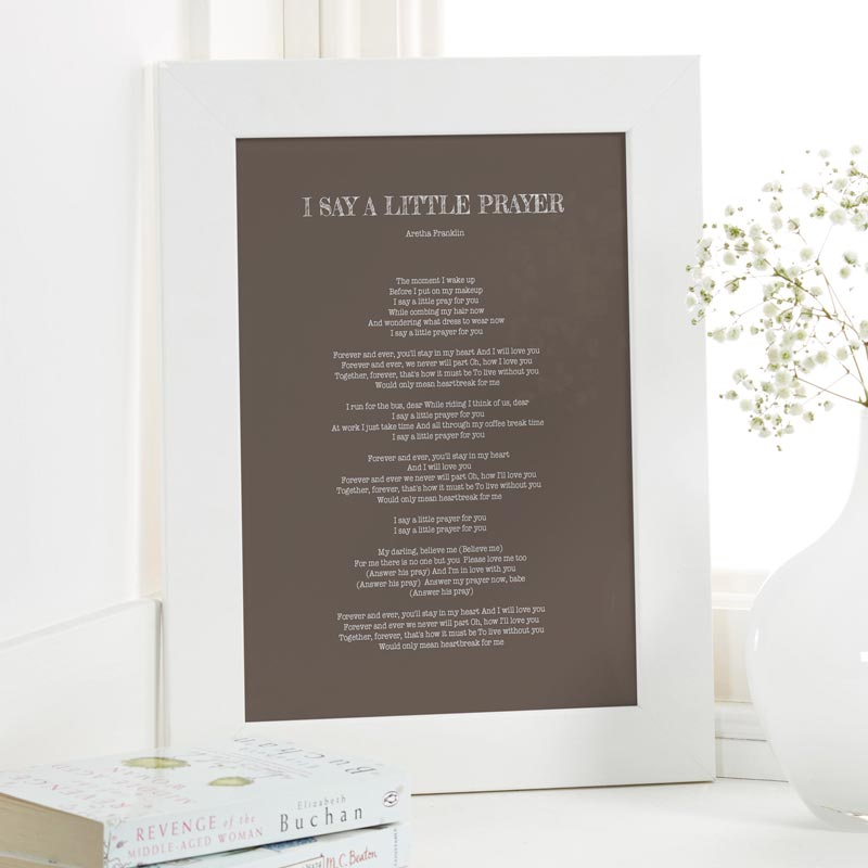 Personalized song lyrics print or canvas chatterbox walls song lyrics printed and framed personalized stopboris Gallery