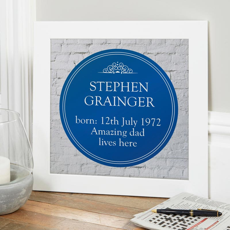 heritage blue plaque sign print gift