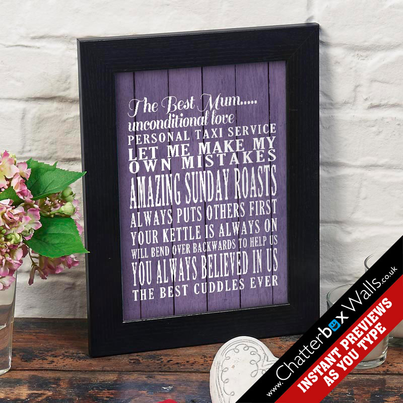 personalized mum print for mothers day