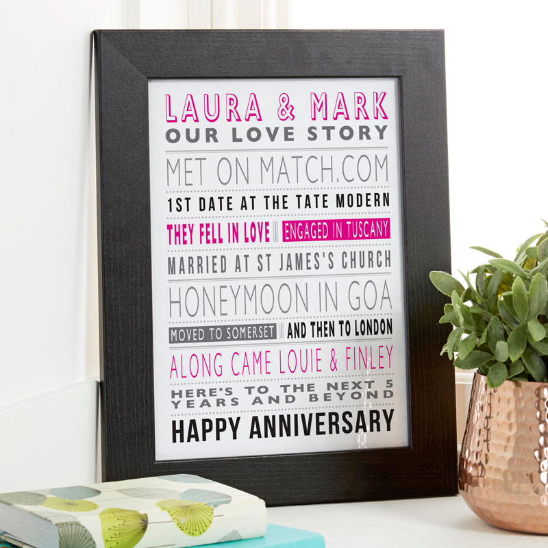love story personalized gift print